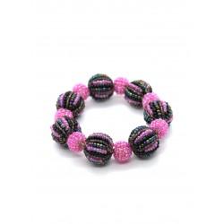 Шарики фиолетовый с розовым большие и маленькие