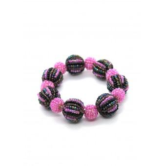Шарики фиолетовый с розовым большие и маленькие - 0