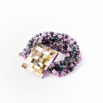 Перламутровый квадрат фиолетовый mix - 0