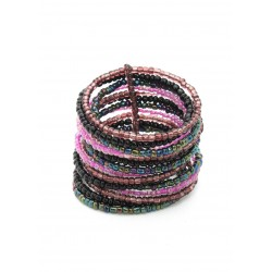15 крупных нитей фиолетовый микс