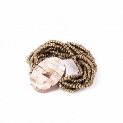 Перламутровый бронзовый овал