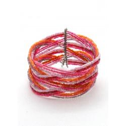 Коса 6 розовых нитей