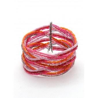 Коса 6 розовых нитей - 0