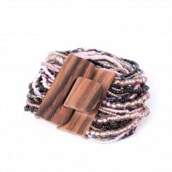 Деревянная пряжка фиолетовый mix
