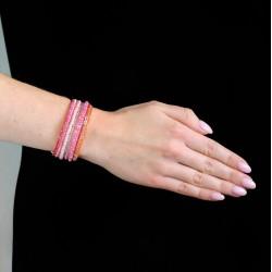 Спираль цветная розовая