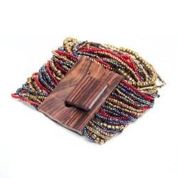 Деревянная пряжка бронзовый mix