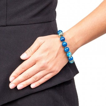 Коллекция натуральных камней с синим агатом - 0