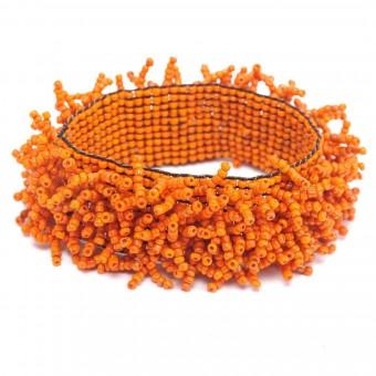 Коралл на резинке оранжевый - 0
