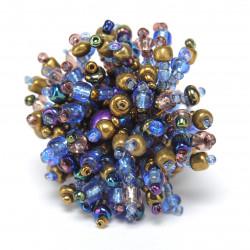 Большой пушистый коралл сине-золотой