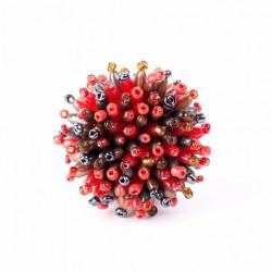 Пушистый коралл красный микс