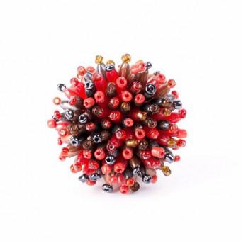 Пушистый коралл красный микс - 0