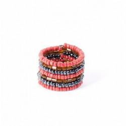 Спираль красный микс стеклярус