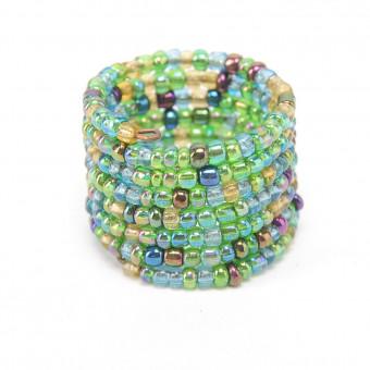 Спираль меланж зеленый mix - 0