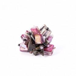Перламутровые кубики фиолетовые