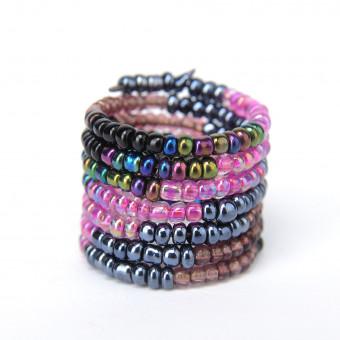 Спираль градиент фиолетовый mix - 0