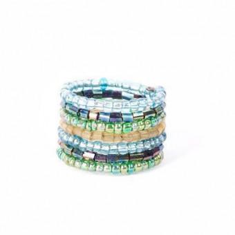 Спираль зеленый микс стеклярус - 0