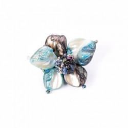 Перламутровый цветок синий микс