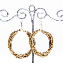 Переплетенное бронзовое кольцо