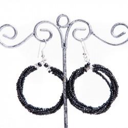Переплетенное черное кольцо