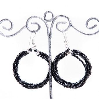 Переплетенное черное кольцо - 0